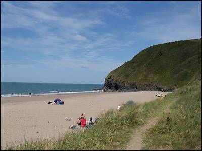 Nearby Penbryn Beach